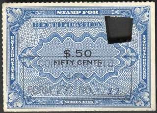 Rectification Tax Stamp Scott RZ6
