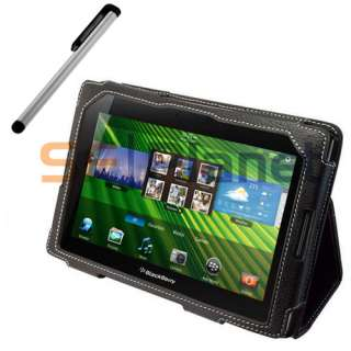 Leather Case Cover+Touch Screen Stylus Pen for BlackBerry PlayBook