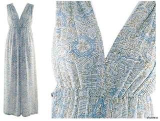 NEW Blue elegance Sexy V neck Ladies Long Maxi Dress