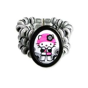 Tarina Tarantino Hello Kitty Pink Head Mod 3 Row Bracelet