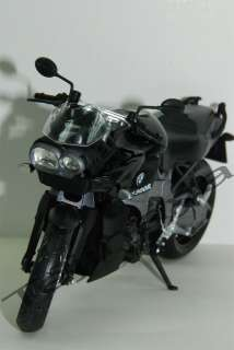 12 BMW BLACK K1300R Diecast Motorcycle Street Bike