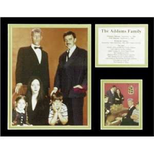 The Addams Family TV Show Picture Plaque Framed:  Home