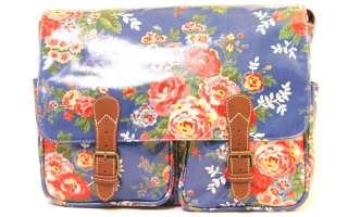 Blue Candy Flower Authentic Cath Kidston Saddle Shoulder Messenger Bag