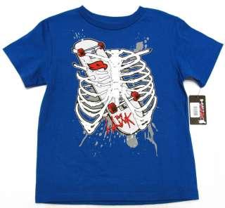 TONY HAWK Boys Blue Skateboard Rib Cage Tee Shirt NWT