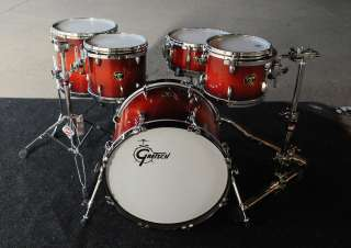 Gretsch USA Custom Maple 4pc Drum Set Savannah Sunset Duco   New