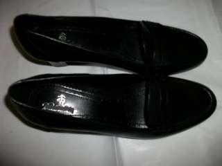 Brooks Brothers Black Leather Loafer Pump Shoes Heels 9 1/2 New MSRP $