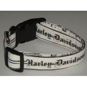 Harley Davidson Motor Cycles Tattoo Small 3/4 Dog Collar