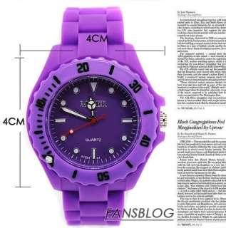 10 Color Stylish Jelly Silicone Fashion Unisex Quartz wrist Watch JF