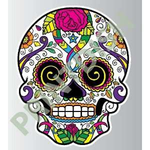 Sugar skull 9 4 sticker vinyl decal 5 x 4