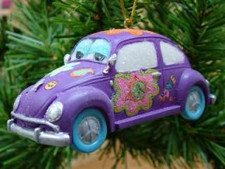New December Diamonds Love VW Beetle Bug Car Flower Power Christmas