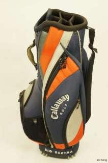 Callaway Big Bertha Golf Cart Bag   Orange Blue 6 way 10 mouth i