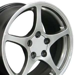 Style Wheel with Machined Lip Fits Corvette   Hyper Silver 18x9.5