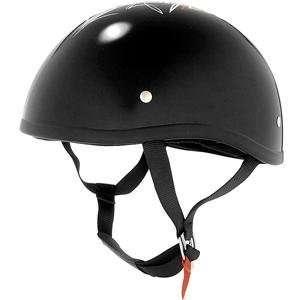 Skid Lid Original Helmet   Large/Flat Black Street Rod Automotive