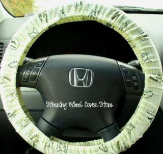 Car Steering Wheel Cover Yellow Green John Deere Print