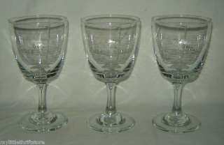 Set of 3 Clear Glass IRISH COFFEE Stemmed Glasses