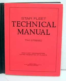 1975 Star Trek Star Fleet Technical Manual Hardcover Book  1st Print