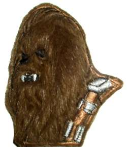 STAR WARS Chewbacca Embroidered Patch Real Hair Chewie