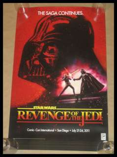 STAR WARS REVENGE OF THE JEDI 2 SIDED POSTER SDCC 2011