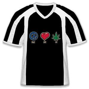 Peace Love Pot Marijuana Weed Cannabis Sport T Shirt