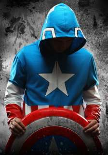 Avengers Movie Captain America Hoodie Jacket Sweater   Chris Evans