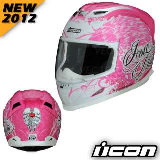ICON NEW 2012 Airframe Angel Motorcycle Street Helmet Pink MD