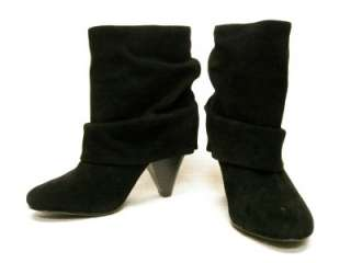STEVE MADDEN*CARLSEN*BLACK SUEDE ANKLE SLOUCH BOOTS 9.5