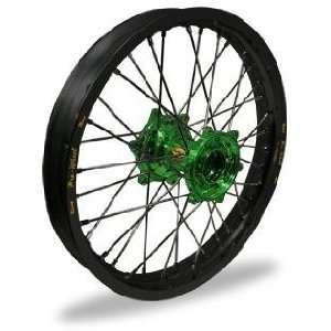 MX Rear Wheel   Black Rim/Green Hub , Color Black 24 11052 HUB/RIM