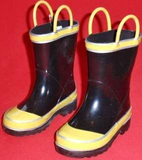 Toddlers SPLASHERS Black/Yellow Rubber Snow/Rain Shoes/Boots size 13