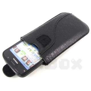 For Nokia E5 E5 00 , New Leather Case Pouch Cover + Film _CM