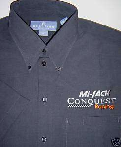 NEW CONQUEST RACING TEAM CREW SHORT SLEEVE SHIRT INDY 500/CART/CHAMP