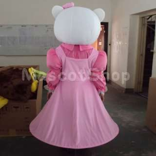 Pink HELLO KT Cat fancy adult cartoon mascot costume