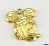 Disney MICKEY MOUSE CHARM   10k Gold Cartoon Pendant