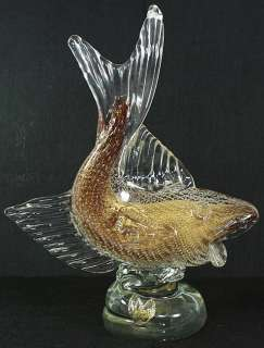 Fish japanese vintage blown glass