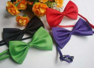 Lots of 40 PCS Mix Colors Pet Dog Cat handsome bow tie Necktie