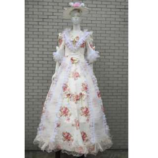 Adult Civil War Southern Belle Ball Gown Halloween Masquerade Costumes