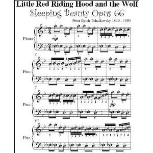 Little Red Riding Hood Sleeping Beauty Tchaikovsky Easy Piano Sheet