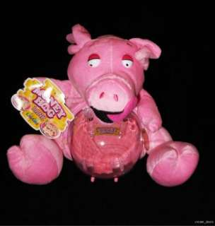 Plush Pink Pig Piggy Bank Crazy Sounds Flashing Lights NEW With Tags