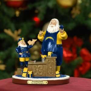 San Diego Chargers Team Workshop Santa NFL Football Fan