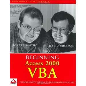 Beginning Access 2000 VBA [Paperback] Robert Smith Books