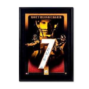 Ben Roethlisberger Signed Jersey   Home/Black Numbers Piece Framed UDA
