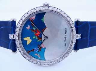 Rare Van Cleef & Arpels Lady Centenaire 18K White Gold Diamond Watch