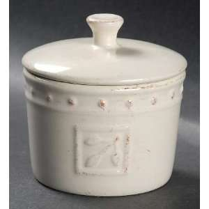 Sorrento Ivory Small Spice Jar with Lid, Fine China Dinnerware Home