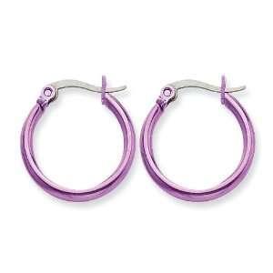 Chisel Stainless Steel Pink 19mm Hoop Earrings Chisel Jewelry