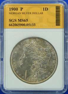 1900 P GEM UNCIRCULATED HIGH GRADE MORGAN SILVER DOLLAR