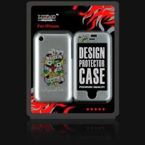 TATTOO Design Orgianl Skull Love is a Gamble Case Cover