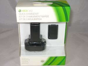 Xbox 360 Quick Charge Kit + Rechargeable Battery NEW 885370145618