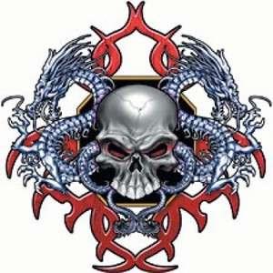 Skeleton Dragon Biker Long Sleeve TShirt or SweatShirt or Hooded