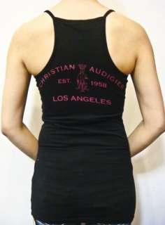 NWT CHRISTIAN AUDIGIER Rhinestones Bird Top Shirt S