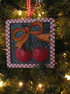 Mary Engelbreit Christmas Frame Ornament, Cherries New