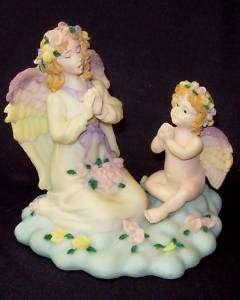 SITTING PRAYING ANGEL & CHERUB FIGURINE   NEW IN BOX